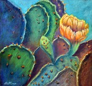 Cactus Pastels - Texas Beauty  Pastel by Antonia Citrino
