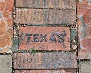 Texas Brick Walkway Print by Kathy Peltomaa Lewis