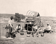 Antique Photography Prints - Texas Chuck Wagon Print by Gary Grayson