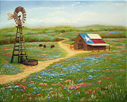 Texas Countryside Print by Jimmie Bartlett