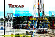 Platform. Level Prints - Texas drilling rig Print by Pam Moore