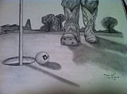Texas Drawings - Texas Golf by Tony McCullough