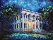 Austin Building Posters - Texas Governor Mansion painting Poster by Svetlana Novikova