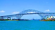 Texas Harbor Bridge Print by Tina M Wenger