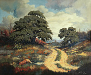 Hallmark Painting Posters - Texas Hill Country Poster by Bob Hallmark