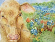 Lynn Maverick Denzer - Texas Hill Country Cow