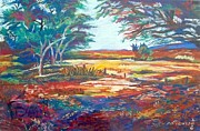 Texas Pastels Originals - Texas Hill Country by Frank Giordano