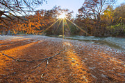 Photos Of Autumn Prints - Texas Hill Country Images - Pedernales Falls State Park and the  Print by Rob Greebon