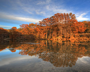 Photos Of Autumn Prints - Texas  Hill Country Images - Pedernales Falls State Park Autumn  Print by Rob Greebon