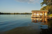 Ski Boat Prints Photos - Texas Hill Country Lake by Kristina Deane