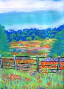 Texas Pastels Originals - Texas Hills and Wildflowers by Frank Giordano