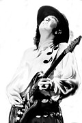 Iconic Drawings Acrylic Prints - Texas Hurricane Stevie Ray Vaughan Acrylic Print by Iconic Images Art Gallery David Pucciarelli