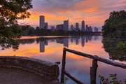 Austin 360 Bridge Photos - Texas Images - Lou Neff Point and the Austin Skyline by Rob Greebon
