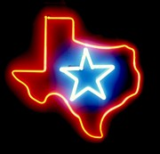 Star Sculpture Prints - Texas Lone Star State   Print by Pacifico Palumbo