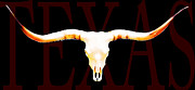 Bull Mixed Media Posters - Texas Longhorns By Sharon Cummings Poster by Sharon Cummings