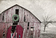 Red Barn Digital Art - Texas Manger by Elena Nosyreva