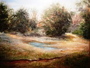Live Oak Trees Paintings - Texas Outback by Patti Gordon