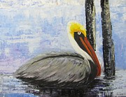 """texas Artist"" Originals - Texas Pelican by Barbara Haviland"