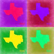 Texas Digital Art - Texas Pop Art Map 2 by Irina  March