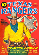 Antique Art - Texas Rangers by Gary Grayson