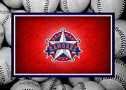 Outfield Prints - Texas Rangers Print by Joe Hamilton