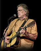 Music Time Posters - Texas Singer Songwriter Guy Clark Poster by Randall Nyhof