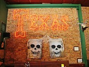 Cotton Club Prints - Texas Skulls Print by Donna Wilson