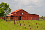 Texan Home Posters - Texas Star Barn Poster by Lynn Bauer