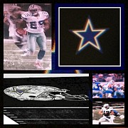 New Dallas Cowboys Stadium Prints - Texas Stars Print by David L Thomas