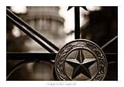 Downtown Austin Framed Prints - Texas State Capitol Poster Framed Print by Doug Sturgess