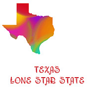 Abstract Map Posters - Texas State Map Collection 2 Poster by Andee Photography