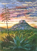 Autumn Landscape Mixed Media - Texas Sunset by Don Hand