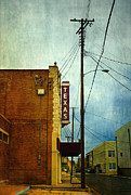 Brick Buildings Posters - Texas theater Poster by Elena Nosyreva