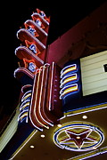 Cliff Lee Metal Prints - Texas Theatre Marquee Metal Print by John Babis