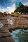 Stairs Prints - Texas Water Gardens Print by Inge Johnsson