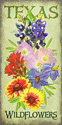 Bluebonnet Wildflowers Posters - Texas Wildflowers Poster by Jim Sanders