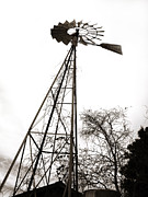 Aermotor Framed Prints - Texas Windmill 2 Framed Print by Marilyn Hunt