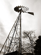 Aermotor Framed Prints - Texas Windmill Framed Print by Marilyn Hunt