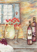 Wine Glasses Paintings - Texas Wine by Tamyra Crossley