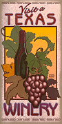 Grapevines Digital Art Framed Prints - Texas Winery Framed Print by Jim Sanders
