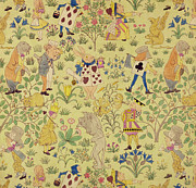 Textile Design For Alice In Wonderland Print by Voysey