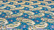 Table Cloth Prints - Textile pattern Print by Tom Gowanlock