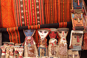 Shopping Photo Framed Prints - Textiles and dolls Framed Print by James Brunker