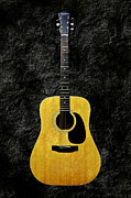 Guitars Mixed Media - Texture Guitar Yellow 2 - Music - Acoustic - Abstract by Andee Photography