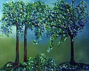 Texture Trees Print by Eloise Schneider