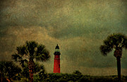 Ponce Framed Prints - Textured Lighthouse Framed Print by Deborah Benoit