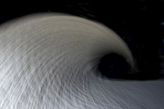 Wave Art Photos - Textured Vortex by Sean Davey