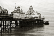 Sussex Framed Prints - Textured Wall Art Eastbourne Pier Framed Print by Natalie Kinnear