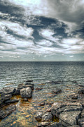 Green Bay Prints - Textures Of Sister Bay Print by Shutter Happens Photography