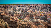 Layered Framed Prints - Tha Badlands Framed Print by Perry Webster